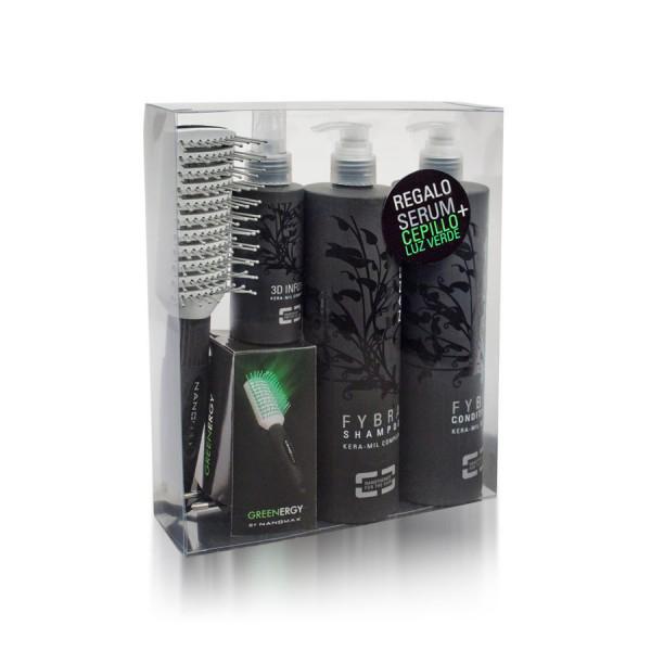 Pack Fybra, con regalo del Cepillo de luz verde y Serum